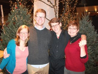 Our family after the Christmas Eve Service.