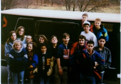 On the road with the Jr. High for another adventure!