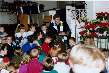 My son, Jonathan, was among the many who would gather for the short kid's message on Sunday mornings.