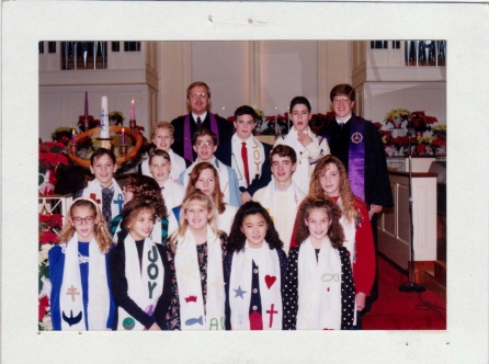 Just a few of the youth who joined the church over the years.