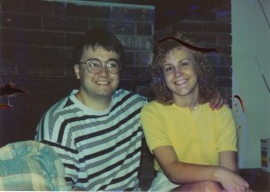 Our good friends, Dave and Lora at our home in Muncie, circa 1992
