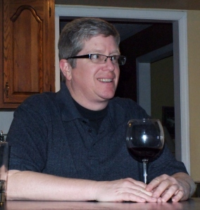 Enjoying a very fine wine in celebration of my progress.