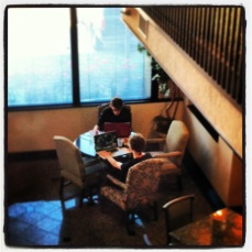 Most evenings, the computers were out and League of Legends dominated the hotel lobby.