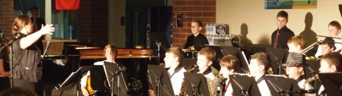 Bethany Heinz-Hanlin Leads the Band