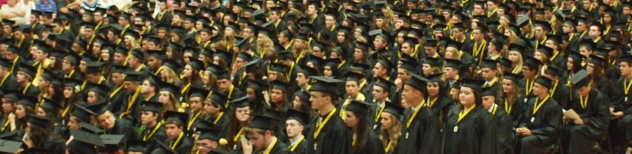 The graduation is a big deal for the town of Noblesville.