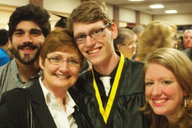 The perfect shot: Matt, Anita, Ben and Emily.