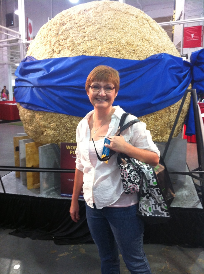"Nothing says ""State Fair"" like a giant ball of popcorn."