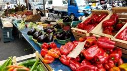 Fresh produce on every corner.