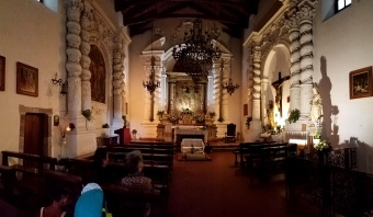 The inside of a beautiful church.