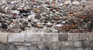 A 2,000 year old wall still stands at Toarmina.